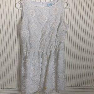 Floral Summer Dress- white- Francesca's